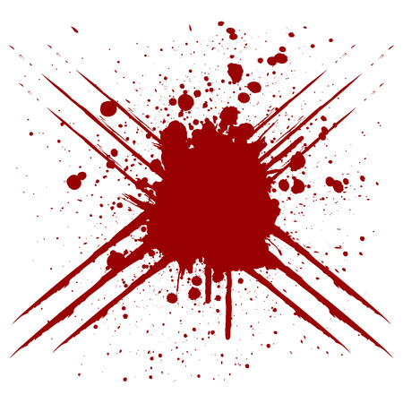 Vector scratch splatter red color design. illustration vector