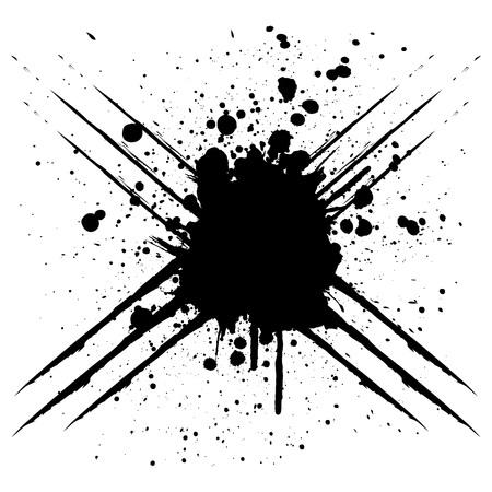 Vector scratch splatter black color design. illustration vector