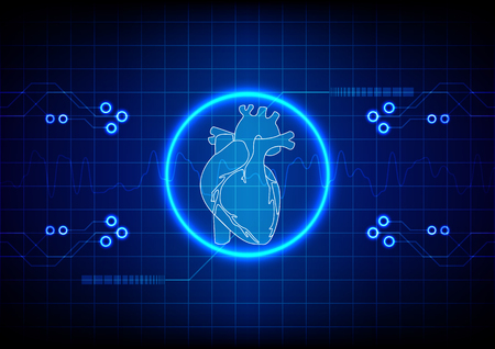 physiology: Abstract cardiology technology concept background. illustration vector Illustration