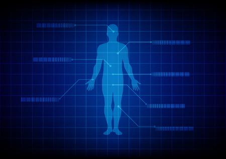 corpo umano: Astratto corpo Medical background. progettazione illustrazione.