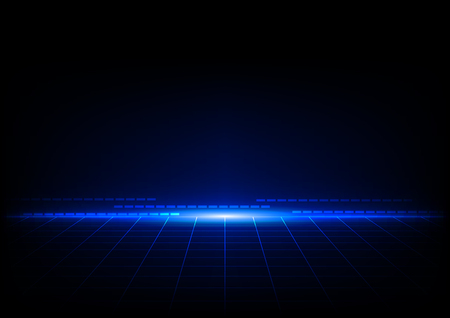 laser beam: abstract blue concept with grids perspective design background