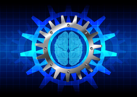 brain illustration: abstract concept background with brain. illustration design Illustration