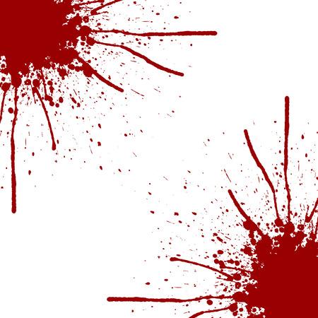splatter rode kleur achtergrond design.illustration vector Stock Illustratie