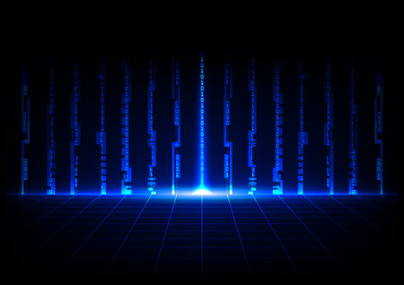 abstract blue concept technology with binary code design background