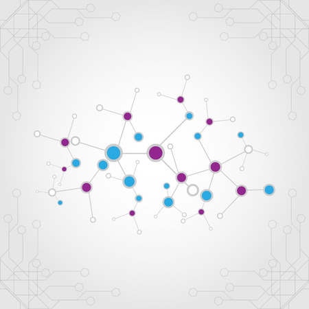linking: abstract connection with circuit background.illustration vector design.