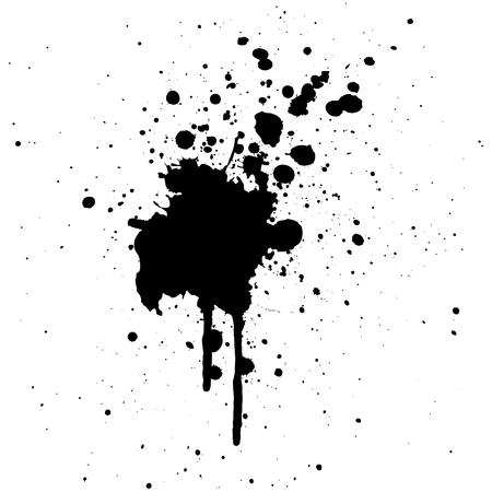 abstract splatter black color background design.illustration vector
