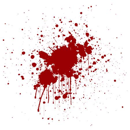 blood stain: abstract splatter red color background. illustration design. Illustration