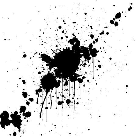 vector splatter black color background. illustration design.