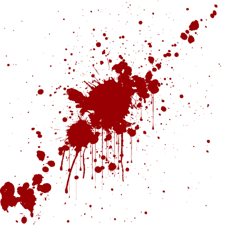 blood drops: vector splatter red color background. illustraitttion