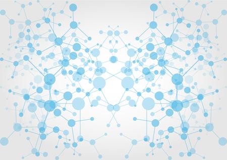 RESEAU: abstraite technologie de connexion réseau. conception, vecteur, Illustration