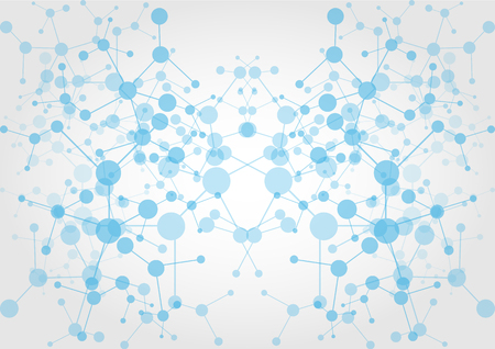 abstract network connection technology. illustration vector design Vettoriali