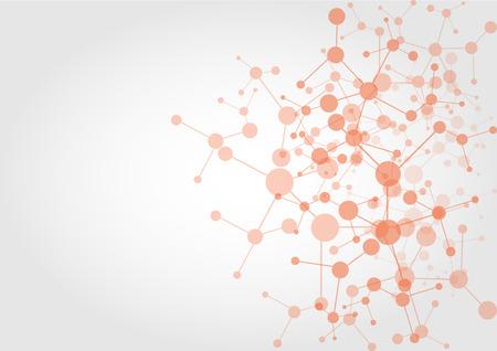 ネットワーク接続技術の背景を抽象化します。イラスト ベクター デザイン