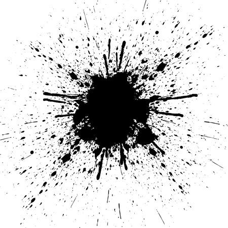 abstract color, splatter black color background. illustration design.