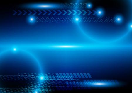 abstracte technische achtergrond en grafisch ontwerp. illustratie technologie Stock Illustratie