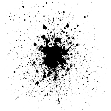 Vector black color splatter background. illustration vector