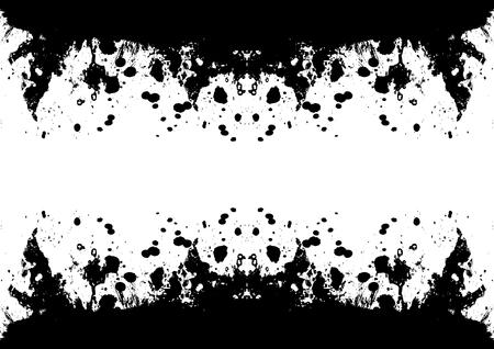 ink splatter: Grunge black ink splatter background. vector illustration