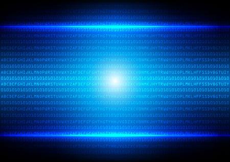Streszczenie kod binarny niebieskim tle technologii