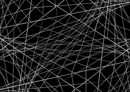 intersecting: Vector illustration. Abstraction with intersecting lines on a dark background. Illustration