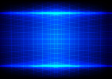 perspective grid: abstract blue light effect and grid perspective pattern background Illustration