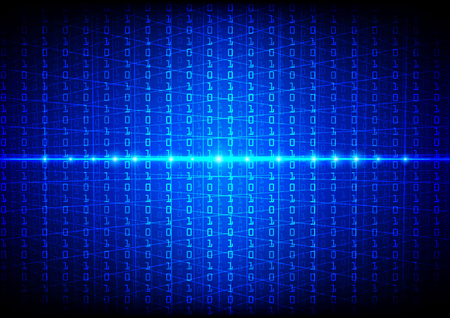 encrypted: Abstract binary code with grid technology background Illustration
