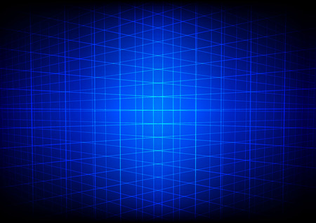 perspective grid: Abstract blue grid perspective technology background Illustration