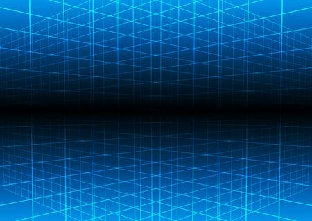 ベクトル青グリッドの光技術のベクトルの背景。イラスト ベクター デザイン