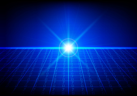 bytes: Abstract technology background of Binary code with light effect. illustration vector design
