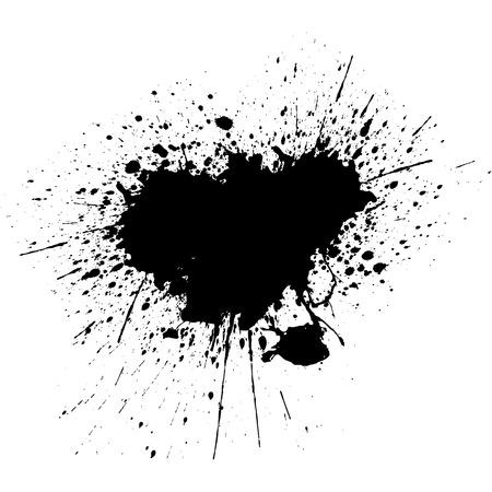 黒インク スプラッタ背景。イラスト ベクター デザイン  イラスト・ベクター素材