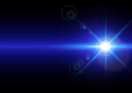 Vector illustration of light on blue background Illustration