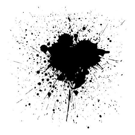 Splatter black color background. illustration vector design Illustration