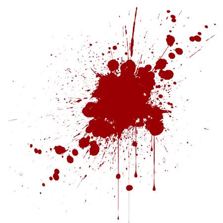 Vektor Splatter rote Farbe Hintergrund. illustraitttion