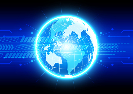 digital world: abstract  digital world technology concept. illustration vector design background