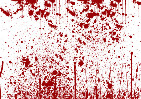splatter painted detail in red color on white Ilustrace