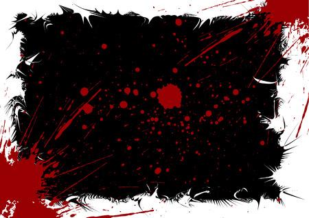 splattered: Grunge ink splattered background element with a space for your text Illustration