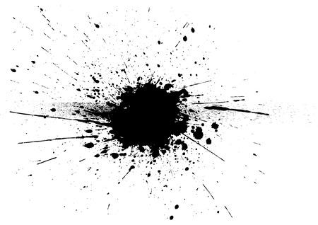 splatter zwarte kleur achtergrond. Vector Illustratie