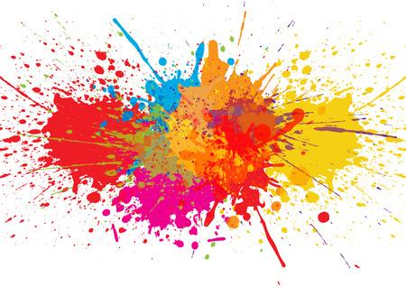 Vector Splatter Farbe Hintergrund. Illustration Vektor-Design Vektorgrafik