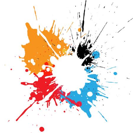 abstract splatter multicolor design. illustration design