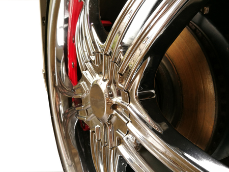Car wheel on a car isolated background Stock Photo