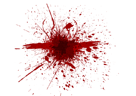 Vector splatter red color background