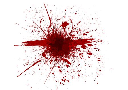 Vector splatter red color background