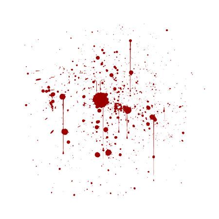 Abstrakte künstlerische Farbe spritzt und befleckt in Rotem und in weißem. Tinte spritzt Hintergrund. rote und weiße Textur.