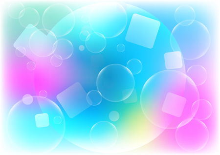 Abstract Bubbles with blue color background concept design