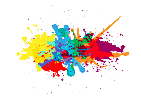 vector splatter color background design. illustration vector design Çizim