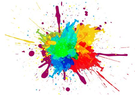 Kolorowy wzór rozpryski farby