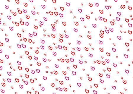 Red heart pattern background. illustration vector design Illustration