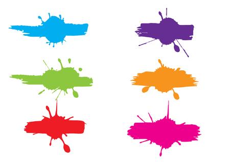 Abstract splatter color pack background. splatter label background. illustration vector design