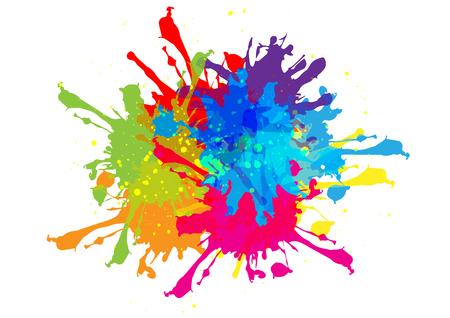 Abstract splatter color design