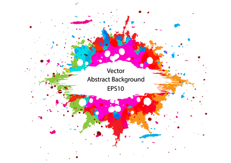 Abstract vector colorful splash design.