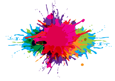 Paint splatter colorful background design.