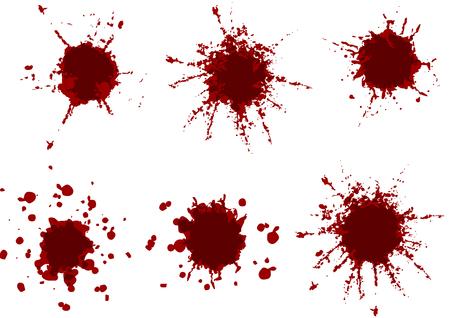 Vector Red Color paint splatter.Paint splash set.Vector illustration design. 矢量图像